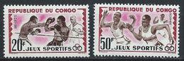Congo-Brazzaville YT 150-151 XX /MNH Boxe Course Sport - Congo - Brazzaville