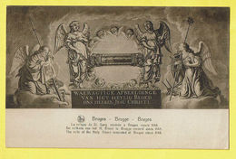* Brugge - Bruges (West Vlaanderen) * (Nels, Ern Thill) Relique Du Saint Sang Depuis 1148, Relikwie Heilig Bloed, Relic - Brugge