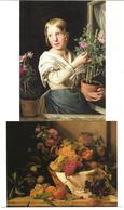 1651e: 2 AKs Rosalia Aman (1825-1856), Ungelaufen - Künstlerkarten
