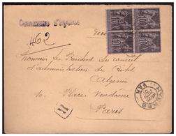 Lettre Rec. De HYERES Pour PARIS Du 25 Juin 1901 - Marcophilie (Lettres)