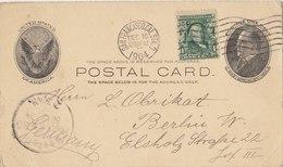 USA 1904 Postcard To Berlin, GERMANY.BARGAIN!! - Postwaardestukken