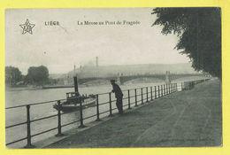 * Liège - Luik (La Wallonie) * (ELD) La Meuse Au Pont De Fragnée, Quai, Bateau à Vapeur, Stoomboot, Boat, TOP, Bridge - Luik
