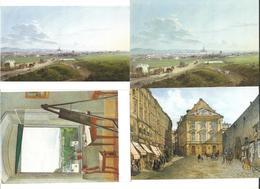 1651l: 4 AKs Jakob Von Alt (1789-1872), Ungelaufen - Künstlerkarten
