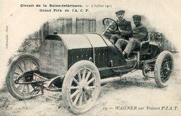 AUTOMOBILE(GRAND PRIX DE L A.C.F.) FIAT - Cartes Postales