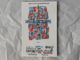 Plan Autobus Et Métro De Paris France Pestel Et Georges Redon - Métro