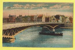 * Liège - Luik (La Wallonie) * (Legia) Pont Maghin Inauguré à L'occasion De L'exposition 1930, Bateau à Vapeur, Boat - Luik
