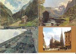 1651n: 4 AKs Rudolf Von Alt (1812-1905), Ungelaufen - Künstlerkarten