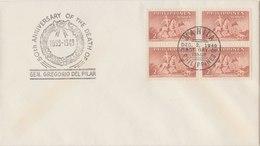 PHILIPPINES 1949 FDC 50th Anniversary Of The Death Of Del Pilar.BARGAIN.!! - Filippijnen