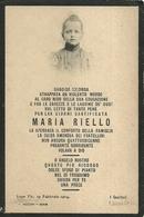 """2756 """" MARIA RIELLO MORTA NON ANCORA 14ENNE - 19 FEBBRAIO 1904 """" ORIGINALE. - Avvisi Di Necrologio"""