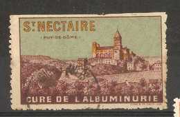 France - St Nectaire, Puy De Domer Tourist Poster Stamp - Commemorative Labels