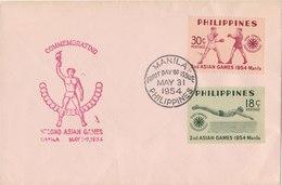 PHILIPPINES 1954 FDC Asian Games.BARGAIN.!! - Filippijnen