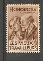 France Poster Stamp - Honorons Les Vieux Travailleurs - Commemorative Labels