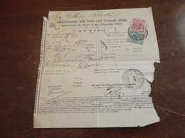 AVVISO DI RICEVIMENTO CON 10 CENTESIMI+5 CENTESIMI-1914 - 1900-44 Vittorio Emanuele III