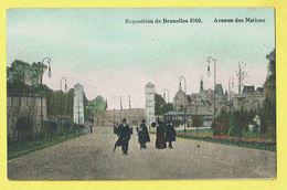 * Brussel - Bruxelles - Brussels * Exposition Universelle Expo 1910, Avenue Des Nations, Couleur, Animée, Rare - Wereldtentoonstellingen