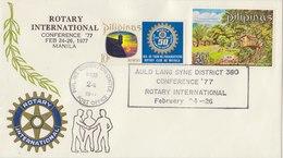 PHILIPPINES 1977 Envelope Rotary International Conference.BARGAIN.!! - Filippijnen