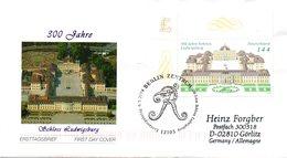"""BRD Schmuck-FDC  """"300 Jahre Schloß Ludwigsburg"""", Mi. 2398 ESSt 6.5.2004 BERLIN - BRD"""