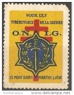 France Poster Stamp - O.N.I.G Tuberculeux De La Guerre - Commemorative Labels
