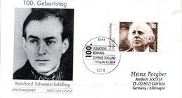 """BRD Schmuck-FDC  """"100. Geburtstag Von Reinhard Schwarz-Schilling"""", Mi. 2399 ESSt 6.5.2004 BONN - BRD"""