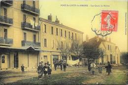 E5 BDR 13 PORT SAINT Louis Du Rhône Les Quais Colorisée Animée 1909 TBE - Francia