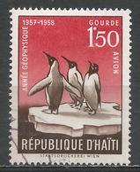 Haiti 1958. Scott #C120 (U) Emperor Penguins, International Geophysical Year * - Haïti