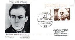 """BRD Schmuck-FDC  """"100. Geburtstag Von Reinhard Schwarz-Schilling"""", Mi. 2399 ESSt 6.5.2004 BERLIN - BRD"""