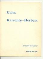 PROGRAMME DE THEATRE 1967 / CROQUE MONSIEUR - DEDICACE JACQUELINE MAILLAN BERNARD LAJARRIGE ROGER CACCIA - Programs