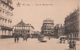 CPA - AK Lüttich Liege Place Du Maréchal Foch Bourse Tram Tramway Cafe Restaurant Hotel Belgien Belgique - Luik
