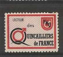France Poster Stamp - Lecteurs Des Quincalliers De France - Commemorative Labels