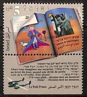 [812387]Israël 1994 - N° 1246, Antoine De Saint Exupéry, Le Petit Prince, Avion Sur Le Tabs, Portrait D'écrivain, Célébr - Ecrivains
