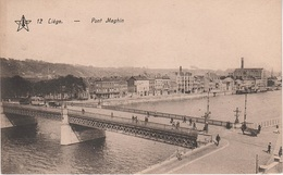 CPA - AK Lüttich Liege Pont Brücke Maghin Tram Tramway Quai St Léonard Ste Barbe Kurth Maas Meuse Belgien Belgique - Luik