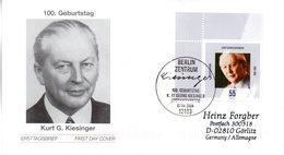 "BRD Schmuck-FDC  ""100. Geburtstag Von Kurt Georg Kiesinger"", Mi. 2396 ESSt 7.4.2004 BERLIN - BRD"