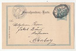 Slovenia Austria Postal Stationery Postcard Travelled 1901 Cilli To Oberburg B190220 - Slovenia