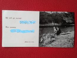 SPAIN ? GREAT BRITAIN ? TARJETA DE BODA CARD WEDDING CARTE DE MARIAGE 1974 WE WILL GET MARRIED NOS CASAMOS VER FOTOS Y D - Wedding