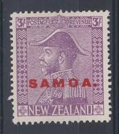 Samoa 1926 3/- 'Jones' Paper MLH(*) - Samoa