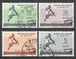 Haiti 1958. Scott #C1115-C118 (U) Record Broad Jump Of Syvio Cator ** Complet Set - Haïti