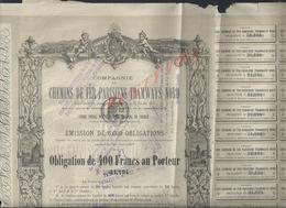 ACTION COMPAGNIE DES CHEMINS DE FER PARISIENS TRAMWAYS NORD 1877 VEND EN ETAT : - Chemin De Fer & Tramway