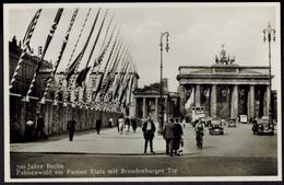 Ansichtskarte Berlin Zur Zeit Des 3. Reiches Auto Brandenburger Tor 700 Jahre - Deutschland