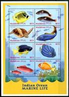 MALDIVES 2000** - Pesci / Fish -block Di 8 Val. MNH Come Da Scansione - Pesci