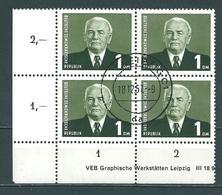 MiNr. 622 Bogenecke, Druckvermerk - DDR