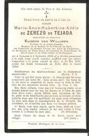 Faire-part Décès Mme Marie De ZEREZO De TEJADA  Décédée à LUMMEN Le 20/5/1893. - Obituary Notices