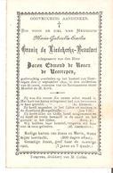 Faire-part Décès Mme Maria GRAVIN De LIEDEKERKE-BEAUFORT épouse BARON Edmond De ROSEN 1890 - Décès