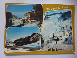 "Cartolina Viaggiata ""St. Gree Di Viola ( Cuneo ) Impianti Di Risalita"" 1984 - Altre Città"