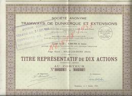 ACTION TRAMWAYS DE DUNKERQUE & EXTENSIONS SIEGE SOCIALE MALO LES BAINS : - Chemin De Fer & Tramway