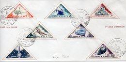 Monaco : Lot De 8 Enveloppes + 1 Carte Premier Jour Diverses Et Différentes - FDC