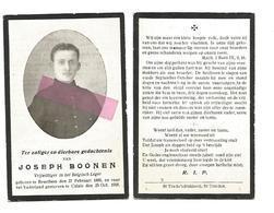 WO 6. JOSEPH  BOONEN - Vrijwilliger In Het Belgisch Leger - °BRUSTEM 1896 / Gesneuveld Te CALAIS 1918 - Images Religieuses