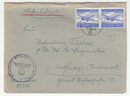 Luft-Feldpost Letter Cover Travelled 1944 FP07326 To Graz B190220 - Alemania