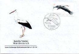 "BRD Schmuck-FDC  ""Bedrohte Tierarten (V) - Weißstorch"", Mi. 2393 ESSt 7.4.2004 BERLIN - BRD"