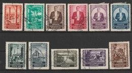MiNr.1317, 1320, 1322-1328, 1330, 1332 Türkei 1952, 15. März./1953, 1. Febr. Freimarken: Sehenswürdigkeiten Und Atatürk. - 1921-... Republik