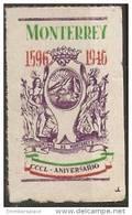 Feance - 1946 Foundation Of Monterrey 350th Anniversary Poster Stamp - Cinderellas