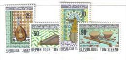 MD20 - TUNISIA ,  Serie N. 671/74   MNH . Musica - Tunisia (1956-...)
